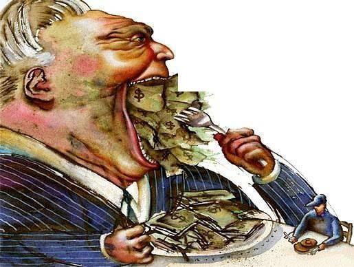 Ganância do governo